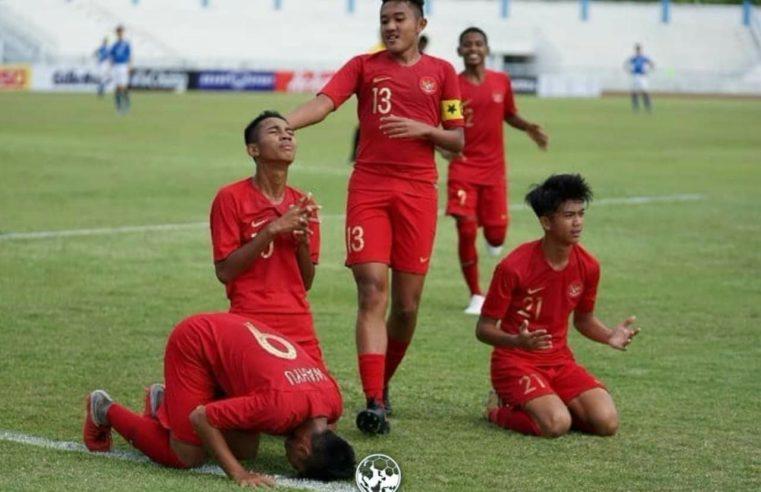Timnas Indonesia U-15 Bermain Imbang Timor Leste pada Piala AFF U-15 di Thailand