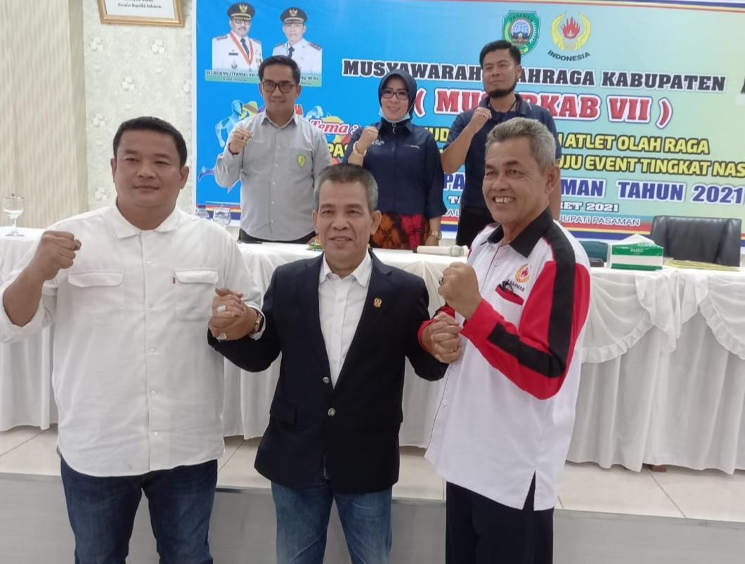 Tommy Irawan Sandra Terpilih Sebagai Ketua KONI Pasaman 2021-2025