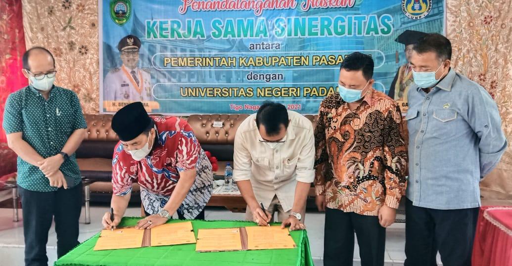 Kampus UNP Dibangun Di Pasaman, Bupati dan Rektor Tandatangani Naskah Kerjasama