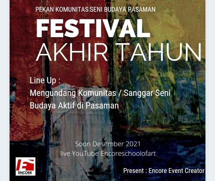Encore event creator Gelar Festival Seni Budaya